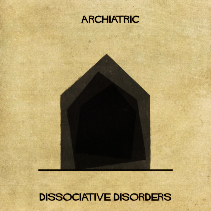08-Dissociative-Disorders-Federico-Babina-ARCHIATRIC-Mental-Health-Illustrations-Paired-with-Architecture-www-designstack-co