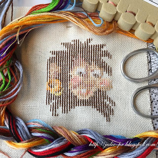 Permin 05-5562 Troll bookmark, вышивка крестом, закладка с троллем, тролль вышивка, идеальная изнанка