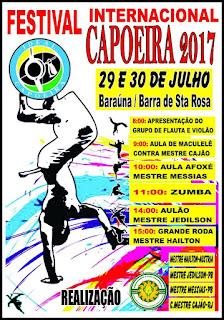 Baraúna sediará festival Internacional de Capoeira