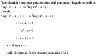 Contoh soal persamaan logaritma