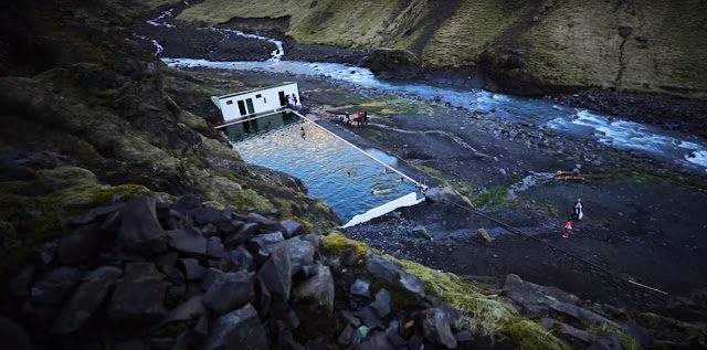 Seljavallalaug hot water pool Iceland