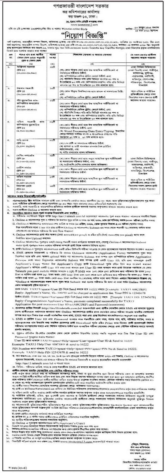 Job Circular 2019-Tax Commissioner Office Image