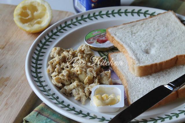 Scramble Egg Untuk Sarapan Sihat