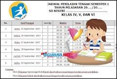 Jadwal UTS Kurikulum 2013 Revisi Untuk SD Semester 1