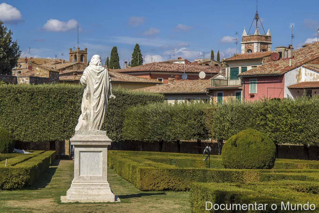 San Quirico d'Orcia, Horti dei Leonini, Toscana, Itália