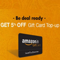 Amazon Gift Card Top-up Flat Rs 50 Off on Rs 1000 rainingdeal.in