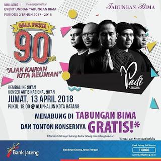 Event Batang | 13/4/2018 | Konser Padi Reborn di HUT Batang ke 52
