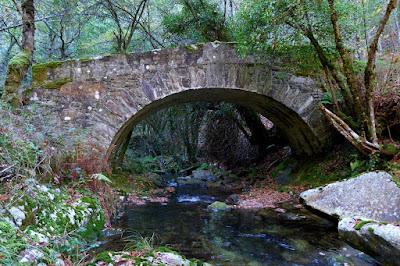 Puente de piedra sobre el Río Bobia - Los Oscos - Asturias