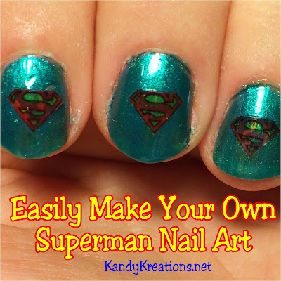 Easily and quickly make your own Superman nail art look perfect for every day or birthday celebrations. It's so easy even a novice like me can do it!