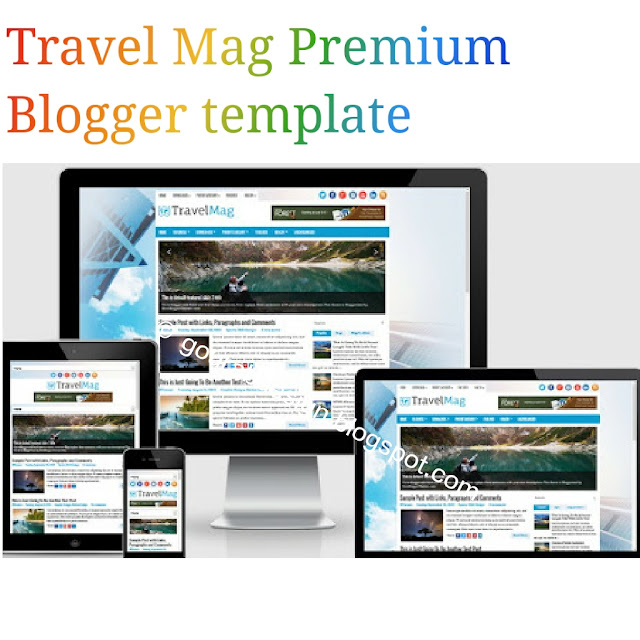 TravelMag premium blogger template