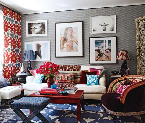 Elle Decor Blog: Global Style Eclectic Mix Exotic Flair Elle Decor Living