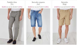 pantalon chino y bermudas en oferta