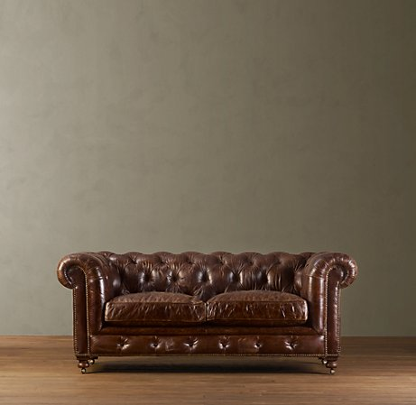 restoration 76u2033 kensington leather sofa