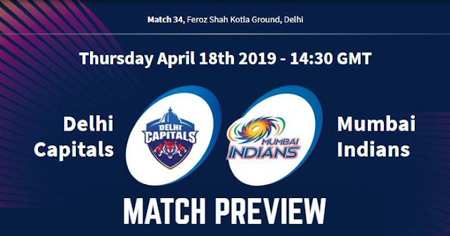VIVO IPL 2019 Match 34 DC vs MI Match Preview, Head to Head and Trivia