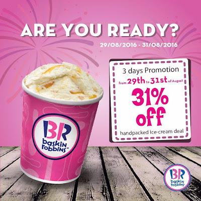 Baskin-Robbins Malaysia 31% Discount Promo