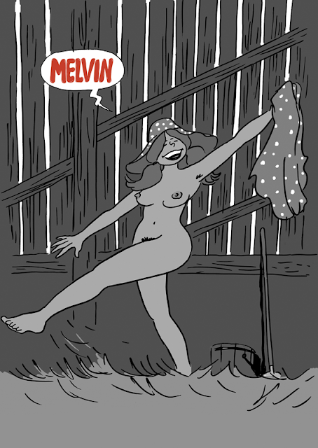 shoo bop drawing illustration Melvin artur laperla sexy girl comic