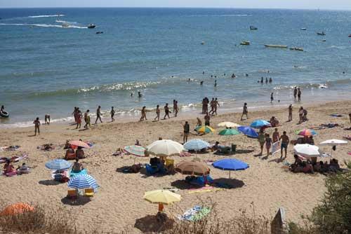 Oura Beach, Albufeira, Algarve, Portugal.