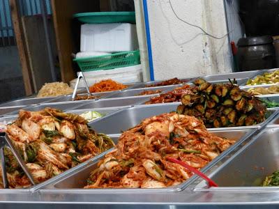 visite du marché Seogwipo Ile de Jeju Corée du sud