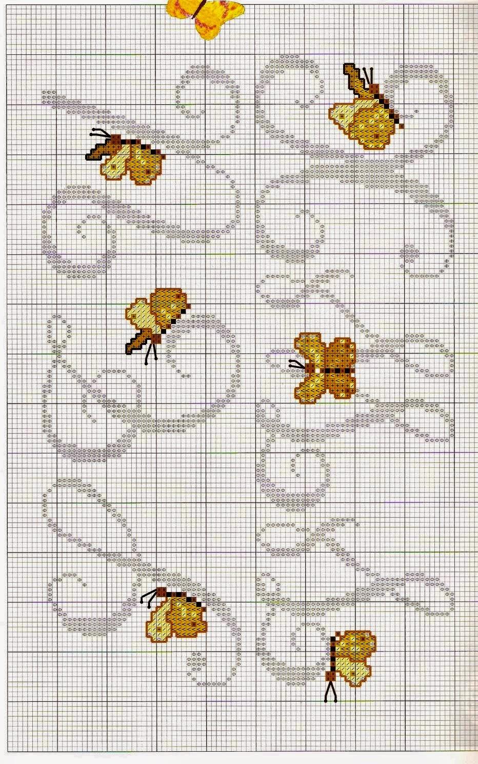 Ricami e schemi a punto croce gratuiti lettere alfabeto for Farfalle a punto croce per bambini