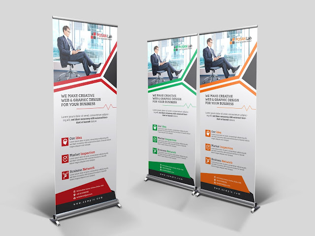 free, creative, printing, advert, marketing, road sign, stand banner, rollup banner, business, creative, corporate, template