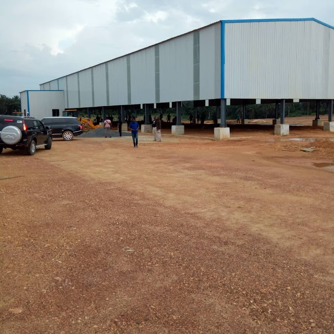 Cross River: The piles and pylon factory in Akamkpa is taking shape.