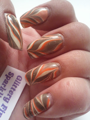 Glittery Fingers Amp Sparkling Toes Thanksgiving Water Marble