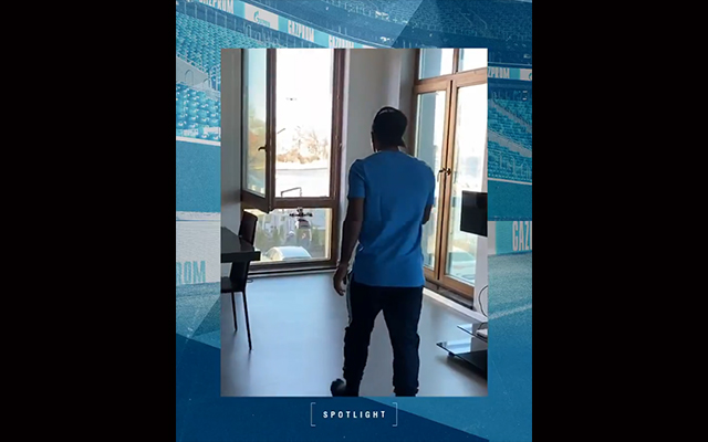 Zenit St Petersburg send Player of the Month trophy to Malcom by DRONE
