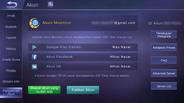 Akun Moonton Aman