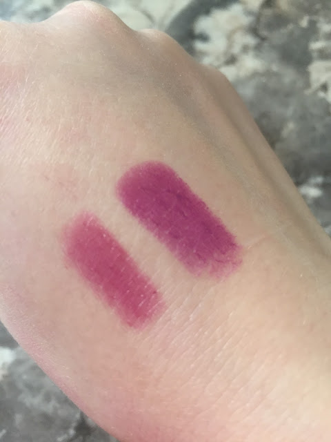 Hard Candy All Glossed Up and Fierce Effects Lipstick Swatch