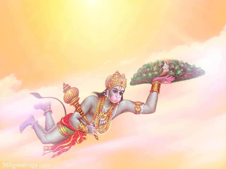 INDIAN GOD WALLPAPER : CARRY MOUNTAIN HANUMAN