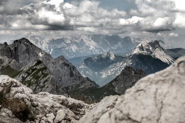 Landschaft Panorama Scheibenkofel Sappada MTB