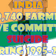 Indian Agriculture: 2.90 lakh farmers committed suicide during 1995-2011: Govt