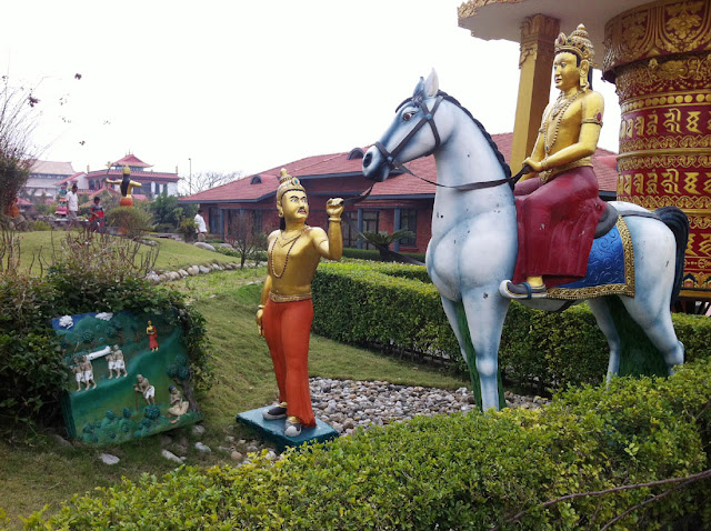 Lord Buddha Riding Horse