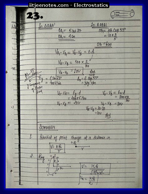 Electrostatics Notes IITJEE8