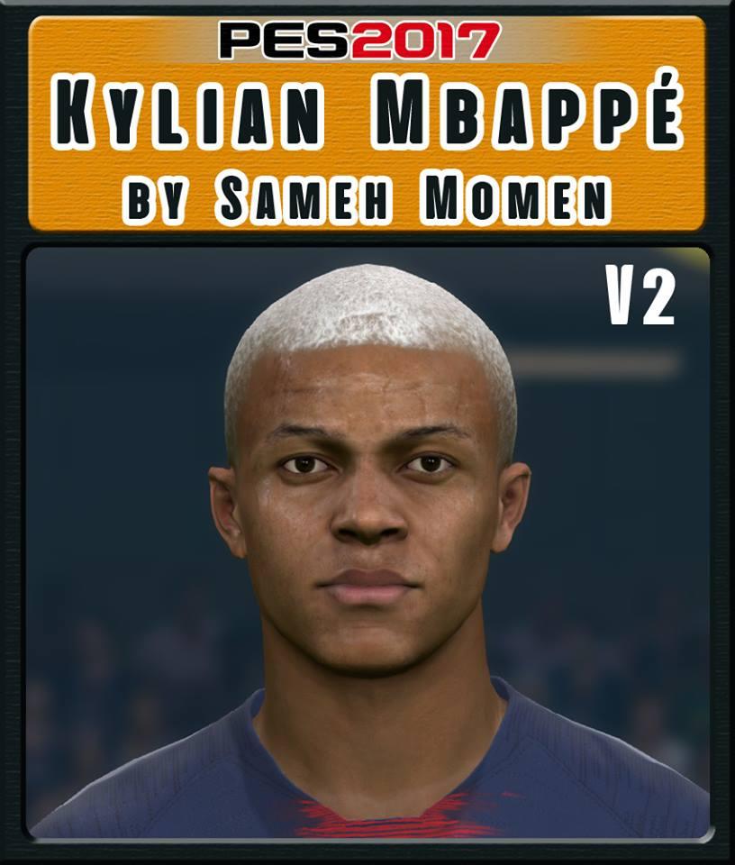 PES 2017 K. Mbappe V2 Face by Sameh Momen