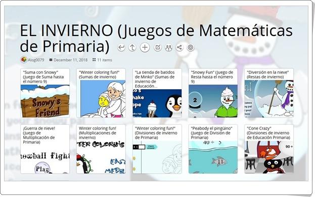 """""""11 juegos de Matemáticas de INVIERNO de Primaria"""""""