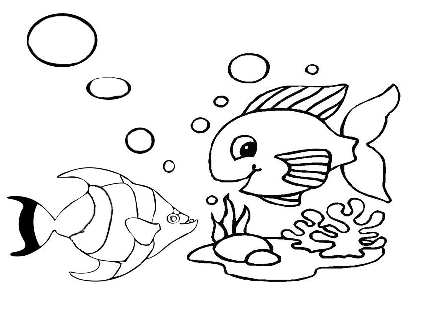 mewarnai gambar ikan gambar mewarnai