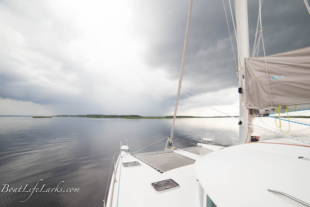 Rain cloud over the ICW, North Carolina