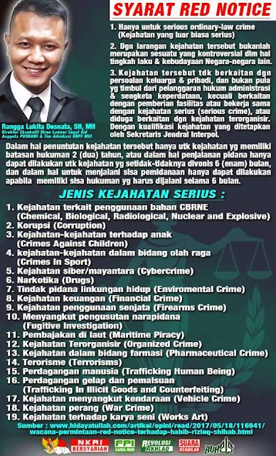 Bani Taplak Dijamin Tambah Stress, Habib Rizieq Tak Masuk Kriteria Red Notice Interpol