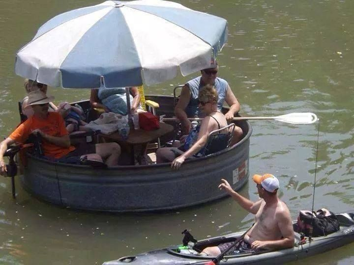 The redneck party boat. Celebrate While You Can. marchmatron.com