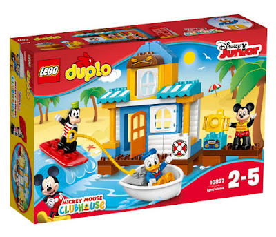 TOYS : JUGUETES - LEGO duplo  10827 La Casa de la Playa de Mickey y sus amigos  2016 | Disney Junior : Mickey Mouse ClubHouse  Edad: 2-5 años  Comprar en Amazon España & buy Amazon USA