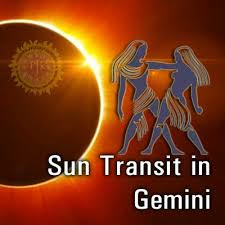 Sun Transit to Gemini Sign