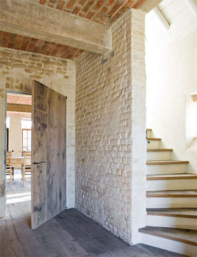 #05 - Restored farmhouse by Architect Bernard de Clerck, image via Corvelyn as seen on linenandlavender.net, http://www.linenandlavender.net/2013/02/bernard-de-clerck-architect-be.html