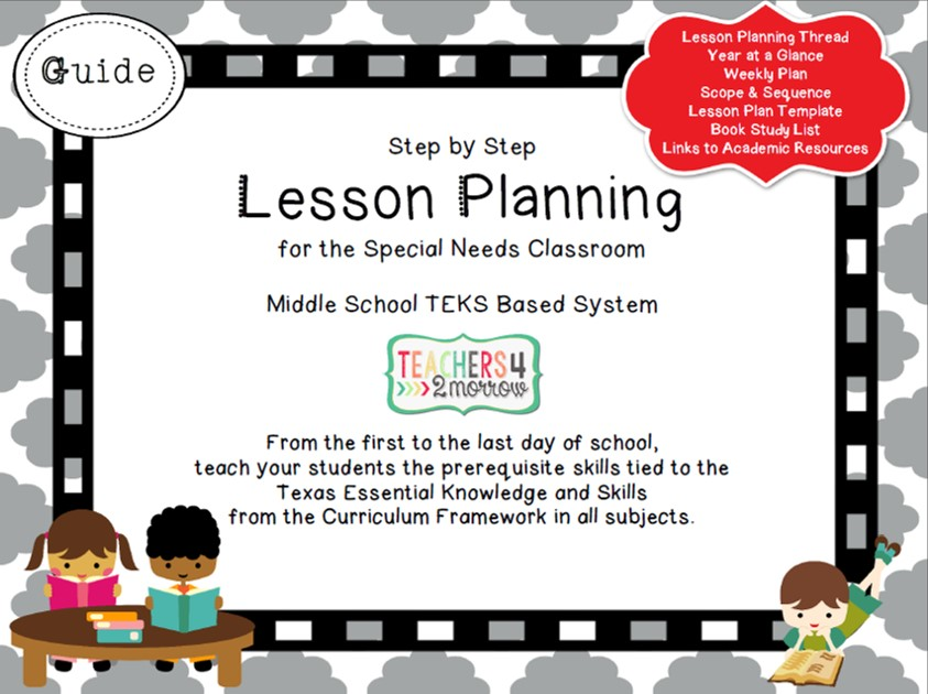 Teachersmorrow TEKS Based Lesson Planning - Lesson plan template for special needs students