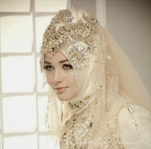 Aneka Model Hijab Pengantin Muslim Modern Terbaru 2015