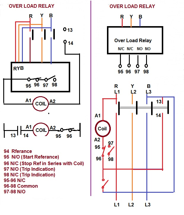 relay coil wiring diagram gm points coil wiring diagram contactor relay coil wiring diagram | elec eng world