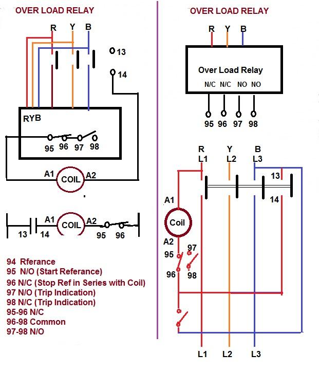 Contactor Relay Coil Wiring Diagram | Elec Eng World