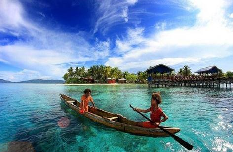 Tempat wisata pantai bosnik papua