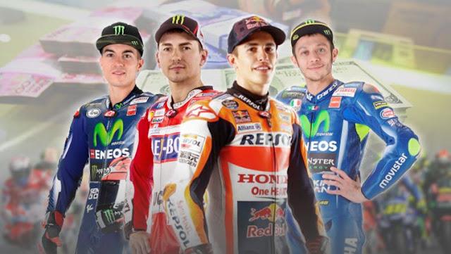 Lima Pembalap MotoGP dengan Gaji Tertinggi di 2018