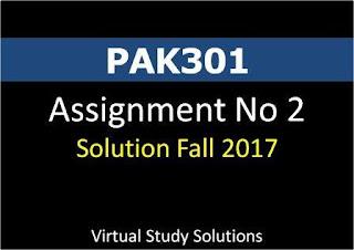 vPAK301 Assignment No 2 Solution Fall 2017